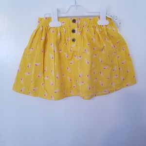 Genuine kids Girls yellow skirt with pineapple
